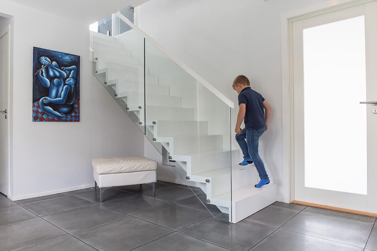 MODERNE STIL: Dette er bare ett eksempel på en trapp i moderne stil.
